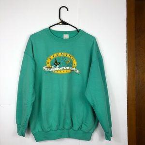 Vintage turquoise crewneck Sz L